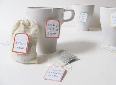 Quotable Tea Bag Tags Tutorial with Free Printable Templates by Shrimp Salad Circus