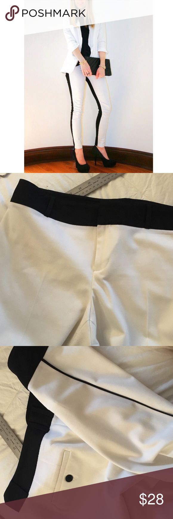 Black and White Tuxedo Pants by Calvin Klein These tuxedo pants feature a piped trim and 2 front pockets. Calvin Klein Women's Slim Fit Piped Tuxedo Pants. Calvin Klein Pants