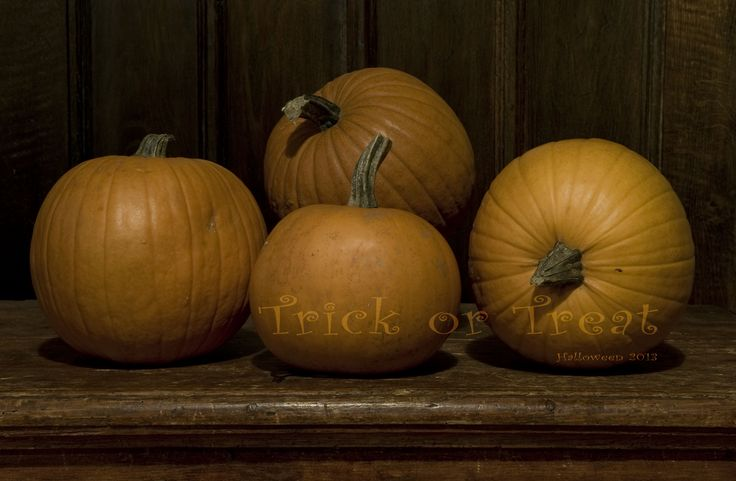 Halloween pumpkins, Trick or Treat  #Halloween #2013 #Trick or #Treat #pumpkin