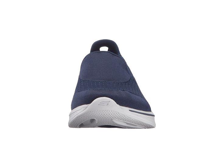 SKECHERS Performance Go Walk 4 - Pursuit Women's Slip on Shoes Navy/Gray