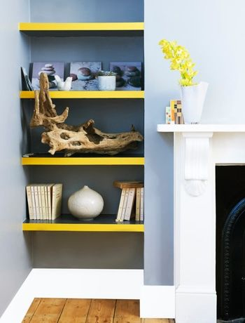 Add a flash of colour to shelving