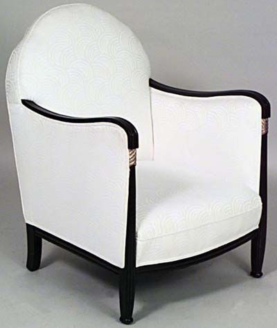 Furniture: Art Deco armchair