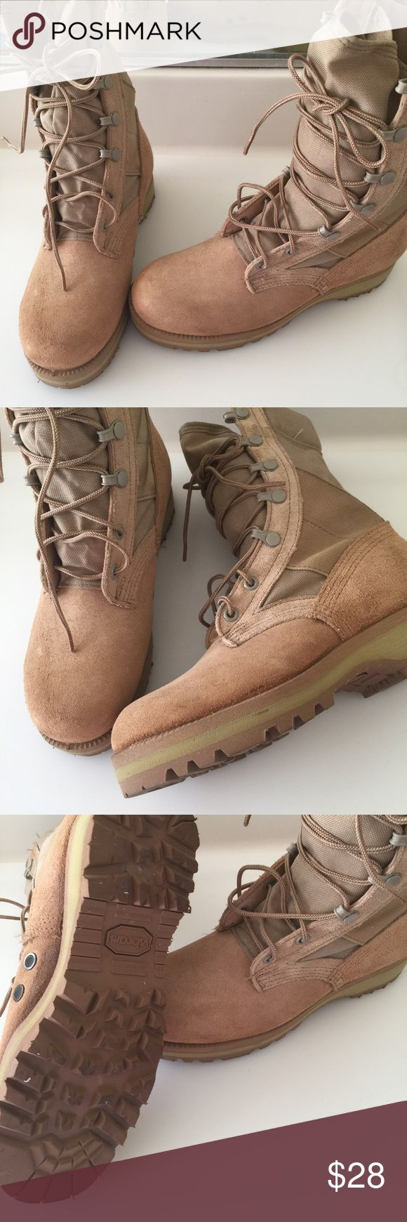 Wellco Desert  Steel Boots Wellco Desert Combat Boots.  Vibram soles,  hard toe might be steel toe,  in excellent preowned condition. Size 7.5 wellco Shoes Boots