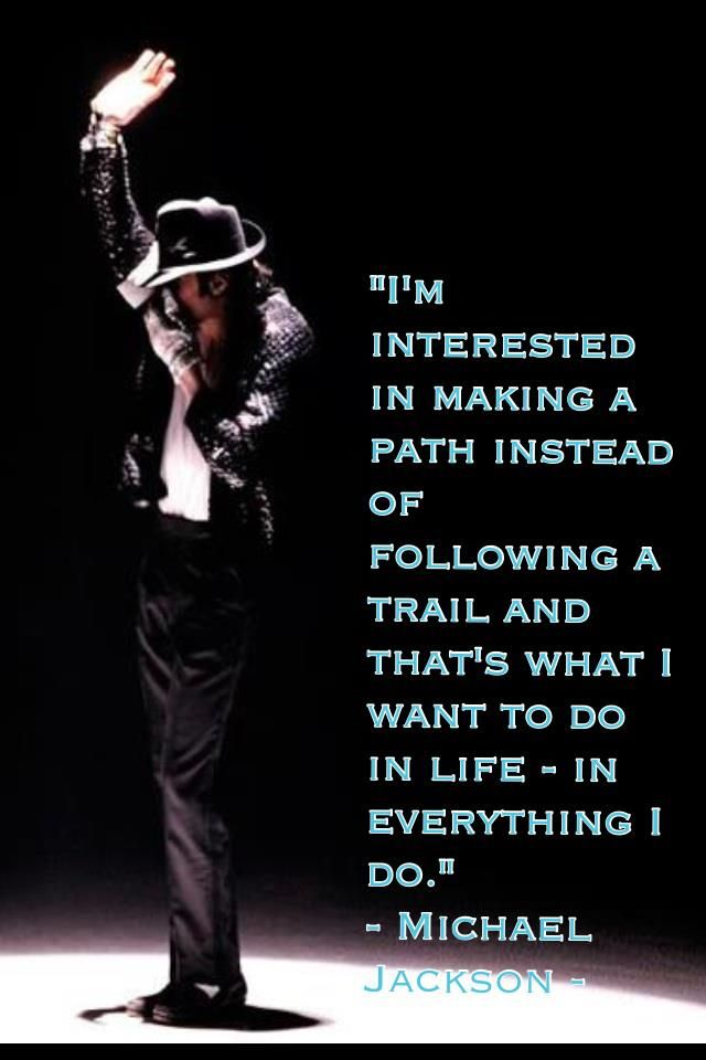 Michael Jackson   trailblazer............He set the standard for all who would follow............