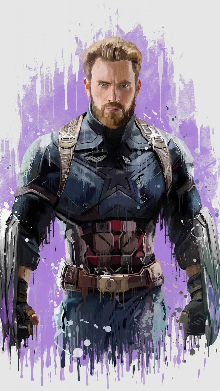 Captain America, Avengers: infinity war, 2018, artwork, 720x1280 wallpaper
