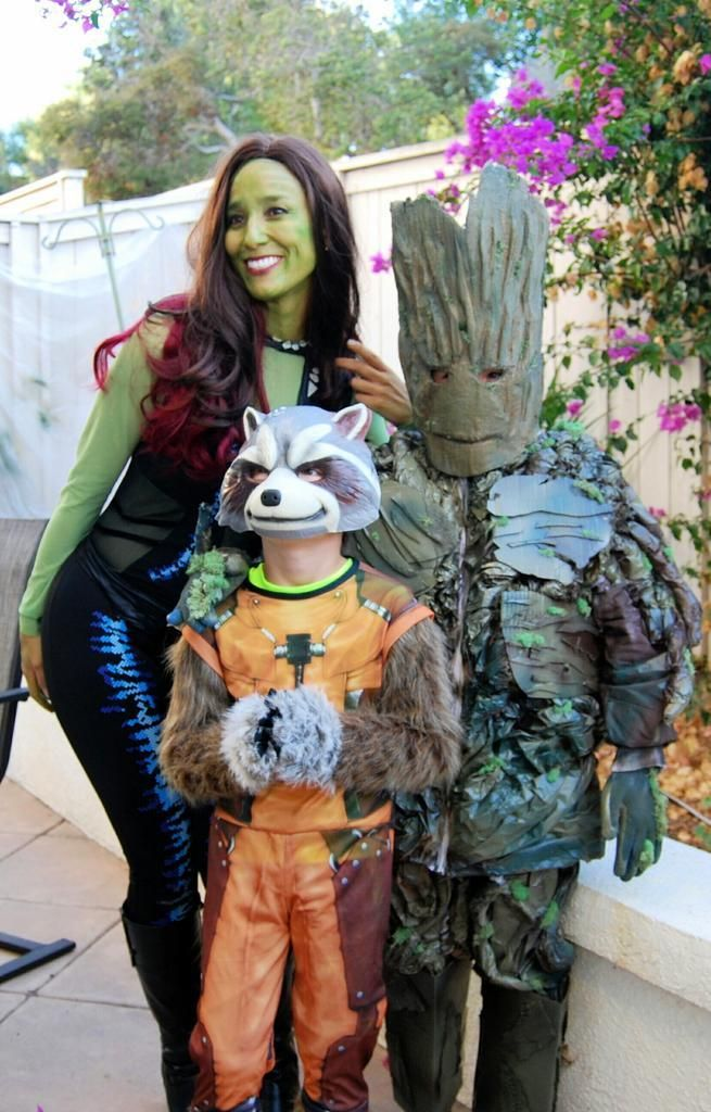 gamora rocket and groot guardians of the galaxy