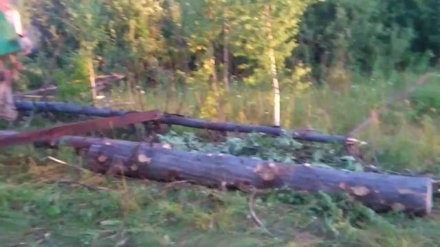 Loading Logs on Truck Russian Style