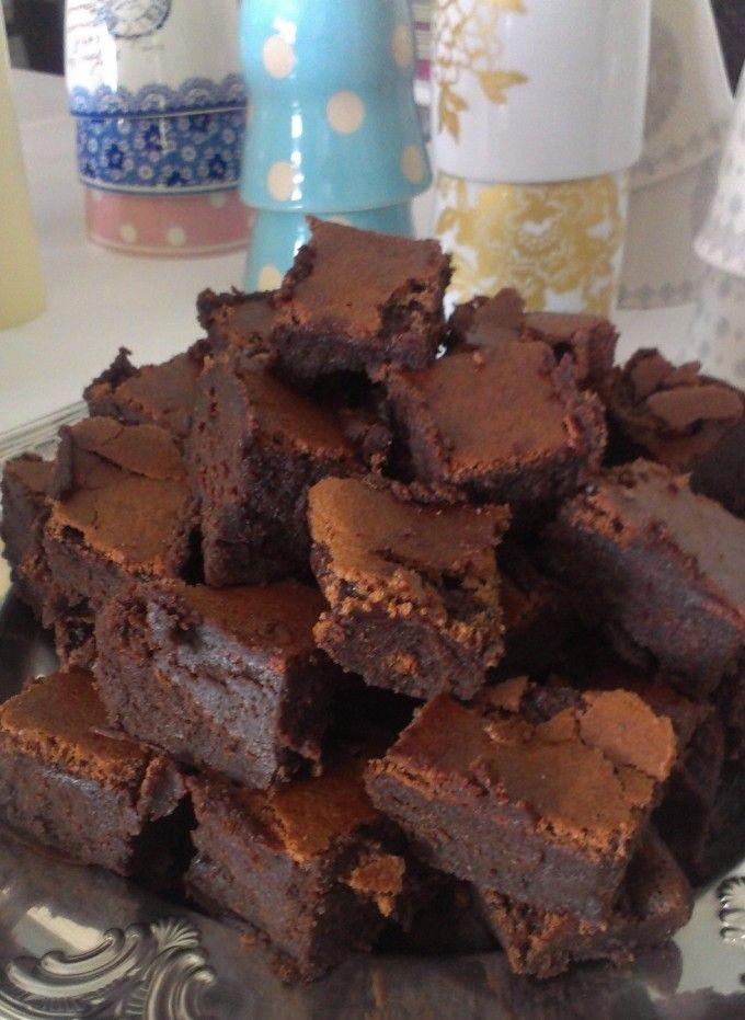 Malenes mooshy chokoladekage (næsten uden mel)