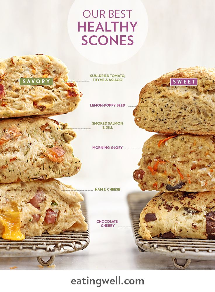 From classic Lemon-Poppy Seed to Ham & Cheese, we've got flavorful, healthy scones for every occasion.