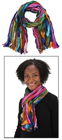 Northern Lights Cotton Scarf - $22.00