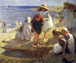 Laura Knight (children on the beach)