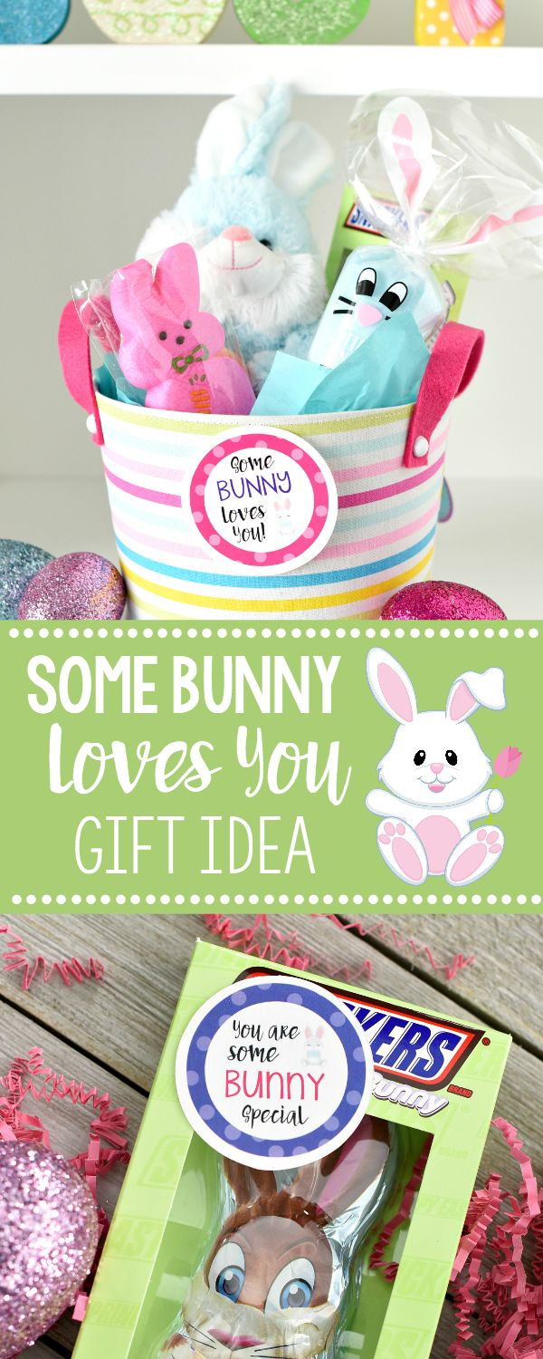 9209 best gift ideas images on pinterest hand made gifts gift bunny easter basket some bunny loves you negle Image collections