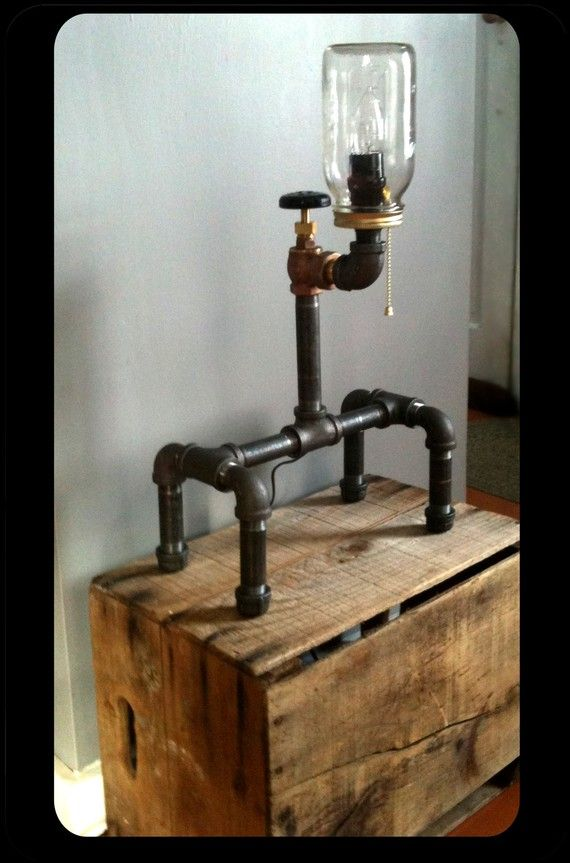 Unique Plumbing Fixture Lamp Industrial Style Table By