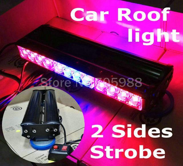 Podwójny 24 LED lightbar na dachu samochodu led Strobe light truck lampa błyskowa auto Awaryjne Pojazdu Światła beacon light DHL/EMS darmo wysyłka   32565978606_ru