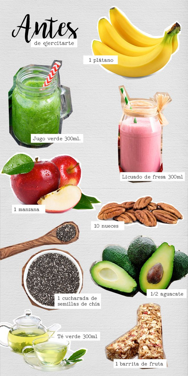 Alimentos para antes de ejercitarte #BlogAndrea