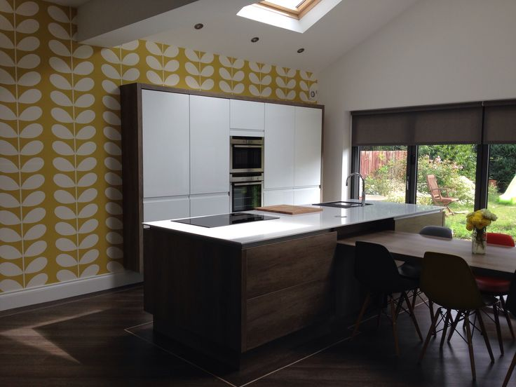 love my new orla kiely giant stem wallpaper harlequin With kitchen cabinets lowes with papier peint harlequin