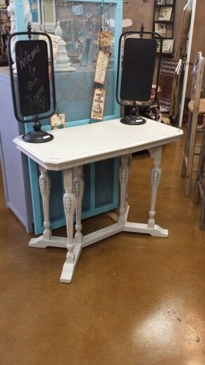 Cute table painted with Amitha Verma Belgian Blue chalk paint at My  Generations in Magnolia TX