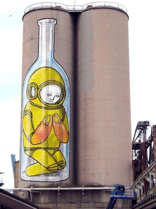 Blu, unique street art, great street artists, free walls, graffiti art.
