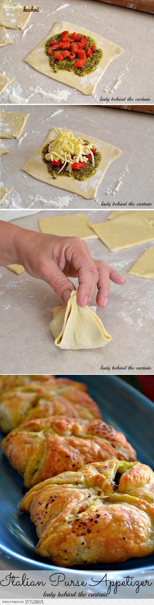 Zobacz jak zrobić francuskie koperty z pesto, pomidoram… na Stylowi.pl