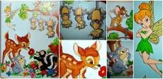 "Pictura camere copii ""Bambi, Tinkerbell, Jerry si prietenii"""