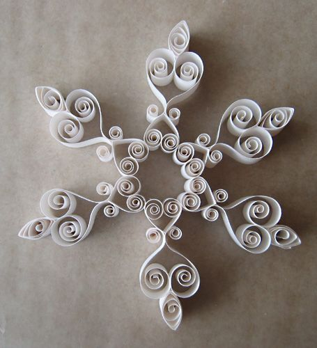 Printable Quilling Patterns | Three Quilled Snowflakes Patterns