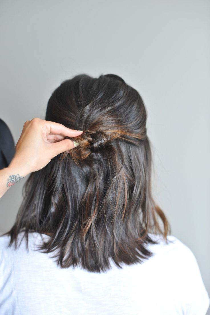 twisted up do hairstyle on short hair - @mystylevita