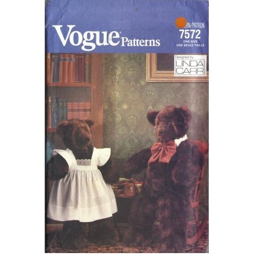 """Amazon.com: Vogue 7572 - Daddy Bear (40"""") and Mommy Bear (32"""")Bears 32, Mommy Bears, Daddy Bears, Bears 40"""