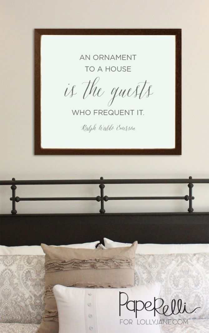 An Ornament to a House is the Guests who Frequent It free printable on LollyJane.com Download this free print for your guest bedroom, pretty home decor idea. Great way to make guests feel at home!