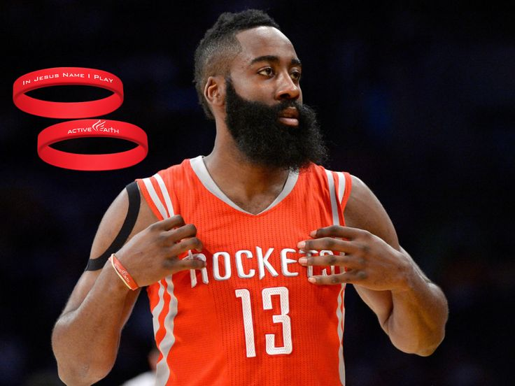 "Bands Worn by James Harden Tagged ""In Jesus Name I Play\"" - Active"