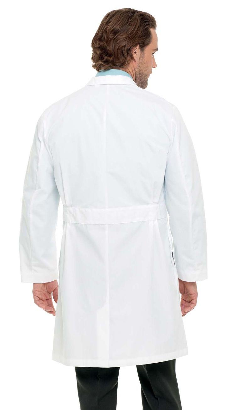 """Landau Men's Belted Back 39"""" Lab Coat"""