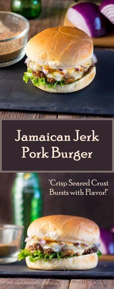 jamaican jerk pork burger pork burgers resep burger burger recipes ...