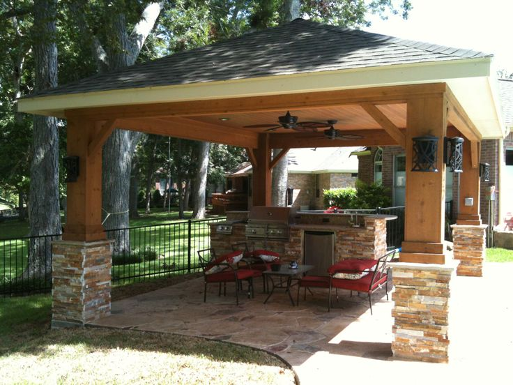 12 best images about live free freestanding patio covers for Texas outdoor kitchen designs