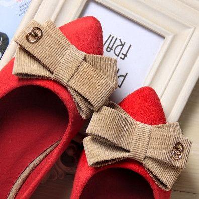 Big size 34-43 Genuine Leather Women ballet flats,Bowtie shoes Woman,Fashion Women ballerina flats,Bridal Shoes Women flats 2#