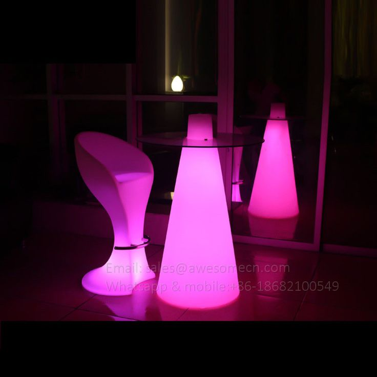 LED glow high cocktail tables for event and party