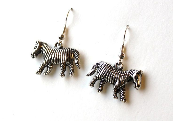 Earrings with zebras from Especially for You available on http://en.dawanda.com/shop/Especially-4-You
