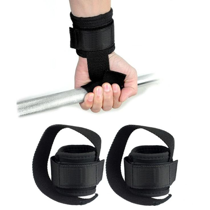 Gym Workout Power Training Weight Lifting Straps Wraps Hand Bar Wrist Support