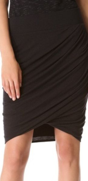 Helmut Helmut Lang Draped Skirt ~ Charcoal ~ $105