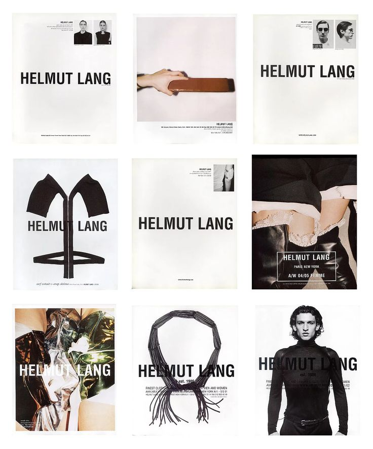 Helmut Lang and his influence on fashion and current day culture.