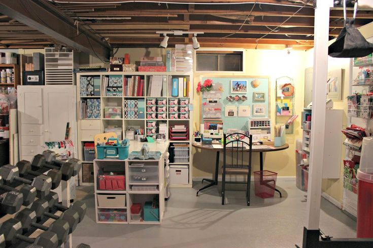 Craft Station - Great use of an unfinished area of the basement.                                                                                                                                                      More
