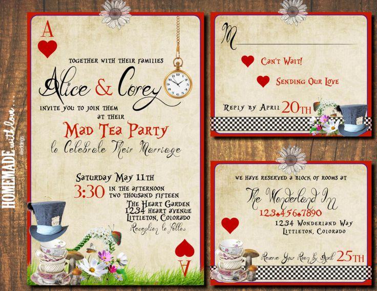 20 DIY Alice In Wonderland Tea Party Wedding Ideas Inspiration