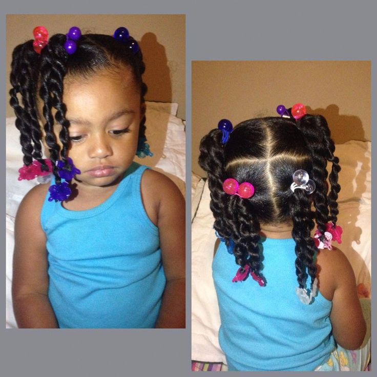 Protective Braids Hairstyle for Little Girls. #braidsforkids