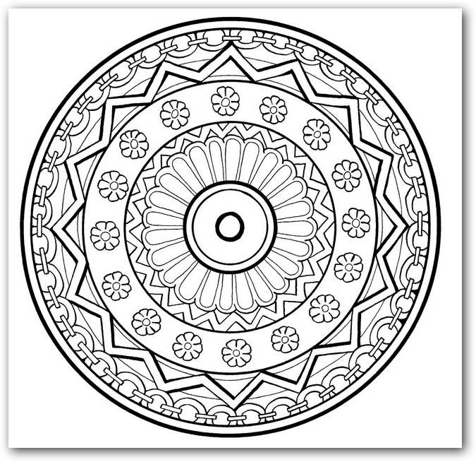 17 Best Images About Mandalas On Pinterest Dibujo Animaux And Mandala Coloring Pages
