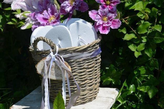 flip flop korb f r g ste sandalen hochzeit produkte. Black Bedroom Furniture Sets. Home Design Ideas