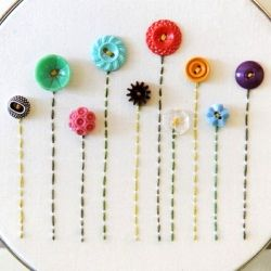 Cute as a Button - A collection of amazing button crafts. (Photo via The Freckled Nest)