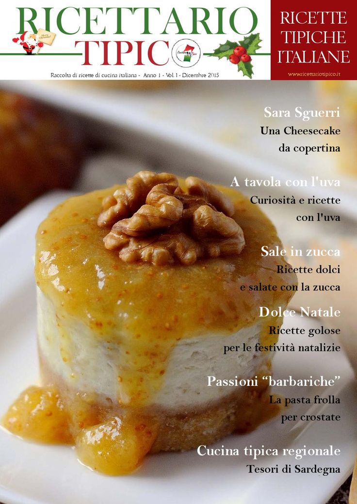 Ricettario tipico N. 1 Dicembre 2015  Raccolta di ricette di cucina italiana