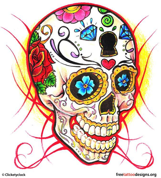 Skull Tattoos   Grim Reaper Tattoos   Deer, Sugar, Bull Skull Tattoo Art