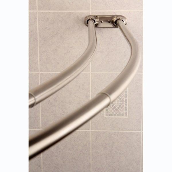 Best 25+ Double shower curtain rod ideas on Pinterest ...