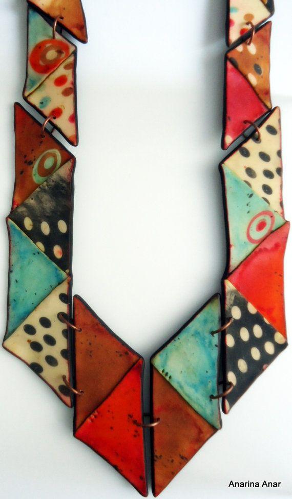 Collar de arcilla de polímero por AnarinaAnar en Etsy