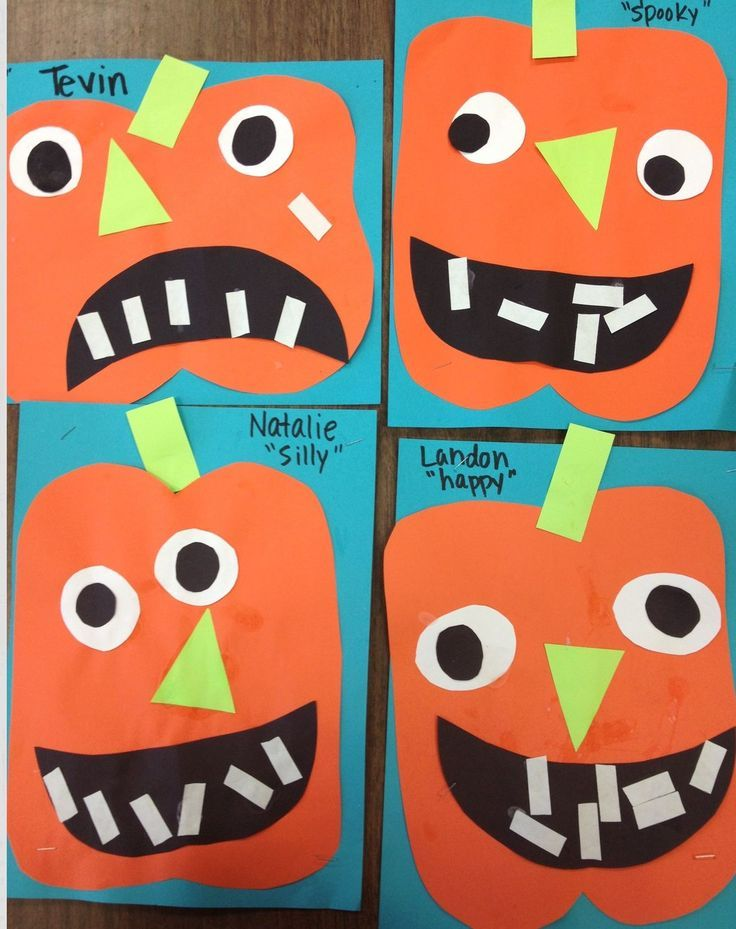 Preschool Pumpkin Jack o Lantern.  TONS of cute projects for your kiddos this Halloween season.