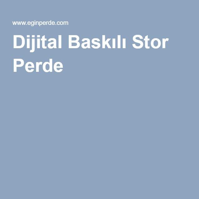Dijital Baskılı Stor Perde